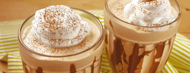 milkshake caseiro - cappuccino